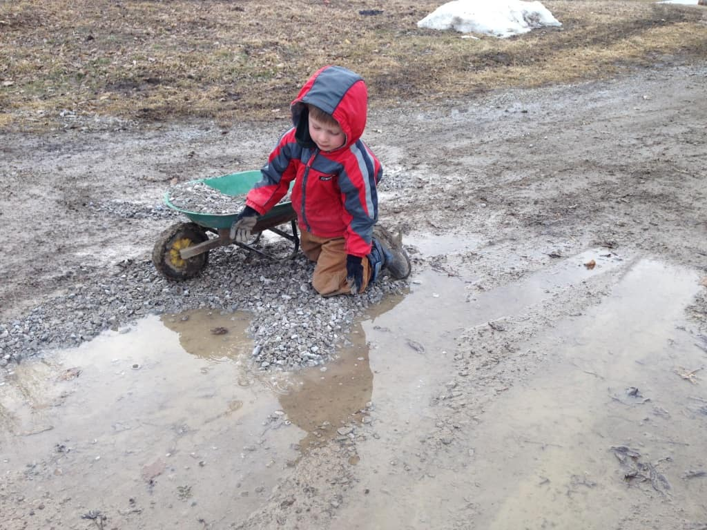 fixing a puddle