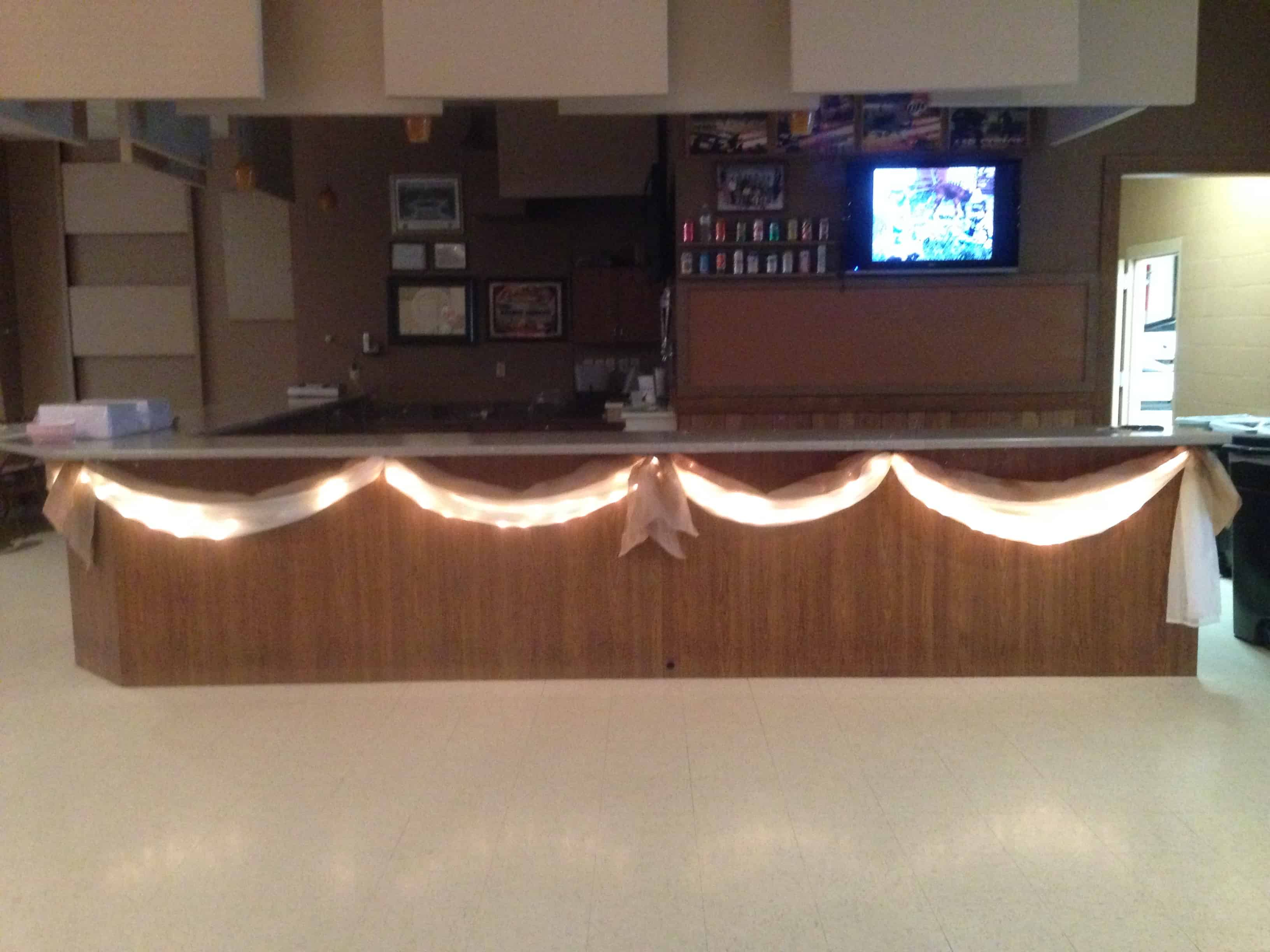 burlap swag with lights