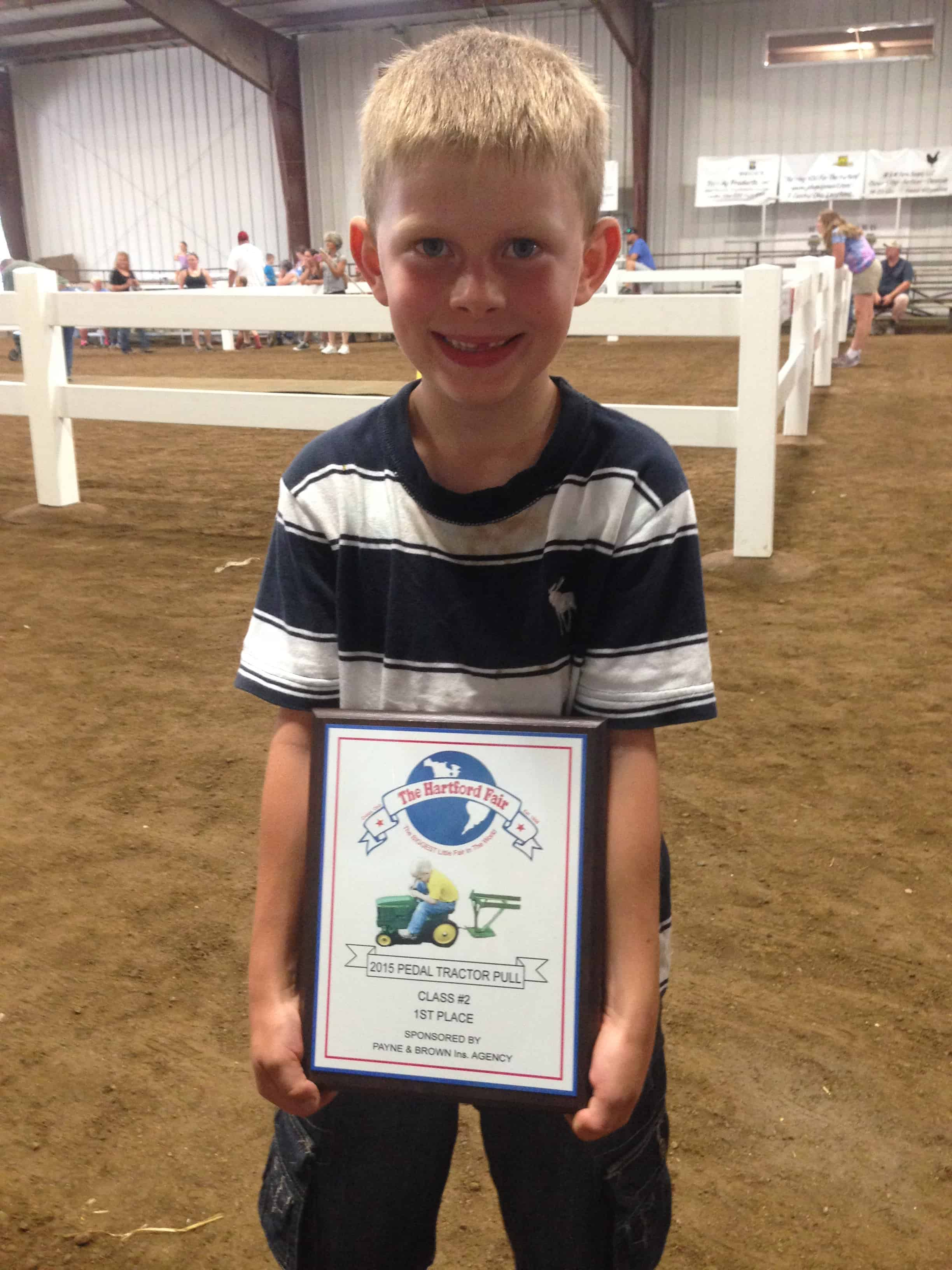 pedal tractor pull class winner