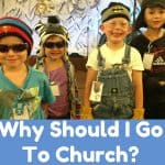Kids dressed up as mountain climbers at vbs with text