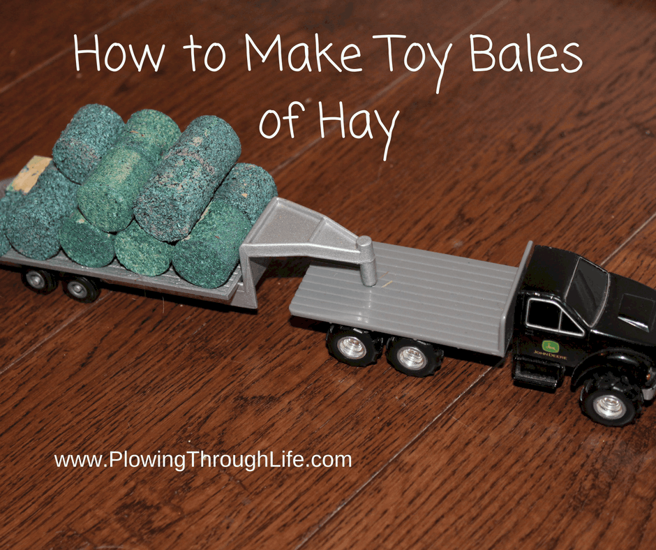 how to make toy bales of hay text on toy truck pic pulling bales of hay