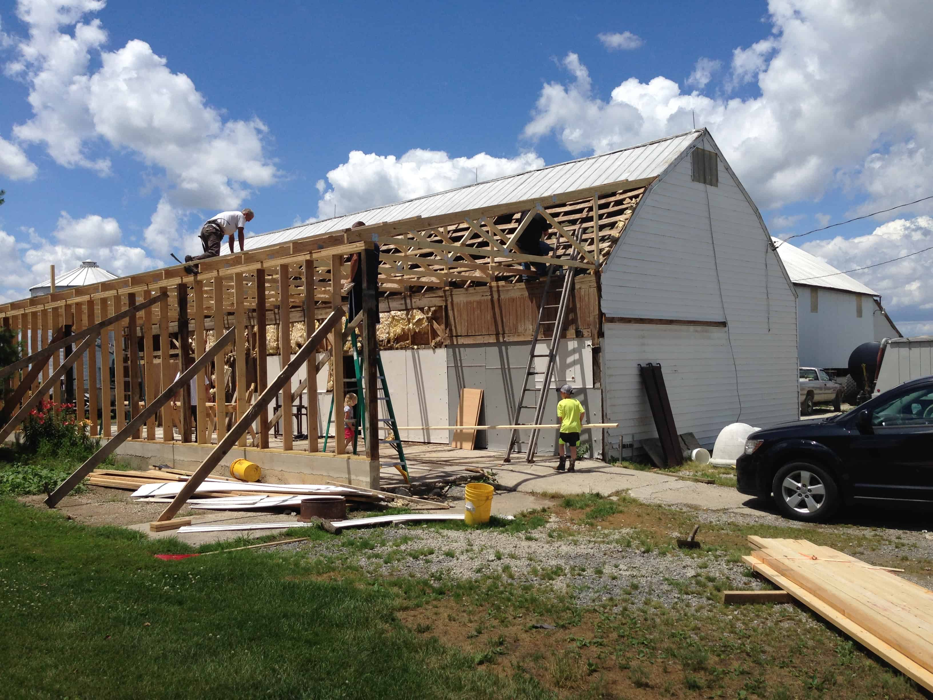 Mercer Co. Barn Raising