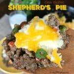 shepherd's pie on a wooden spoon