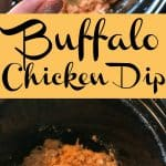 This Buffalo Chicken Dip is the easiest snack food or appetizer I've made. The ranch and cheese make this Buffalo Chicken Dip extra delicious.