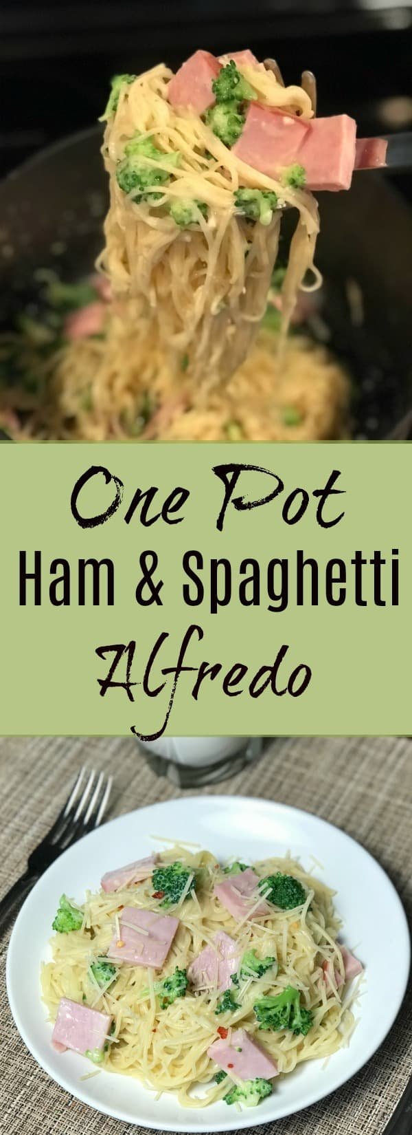 This quick and easy meal is great for kids or busy families. The ham and alfredo adds a nice flavor and the pasta is very filling. Even picky eaters will enjoy this meal that is ready in 15 minutes!