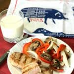 Italian dressing and Worcestershire sauce combined are the BEST pork chop marinade EVER! I use 3 tablespoons of Worcestershire sauce per cup of Italian dressing. People tell me all of the time how they marinate chicken in Italian dressing, but they've never thought to marinate pork chops. Well the time is here to grill these excellent pork chops!