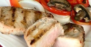 easy pork chop marinade of Italian dressing and Worcestershire sauce