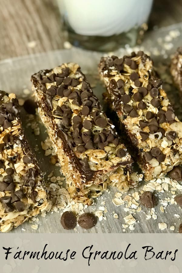 homemade granola bars make a great breakfast and a healthy snack for kids throughout the day