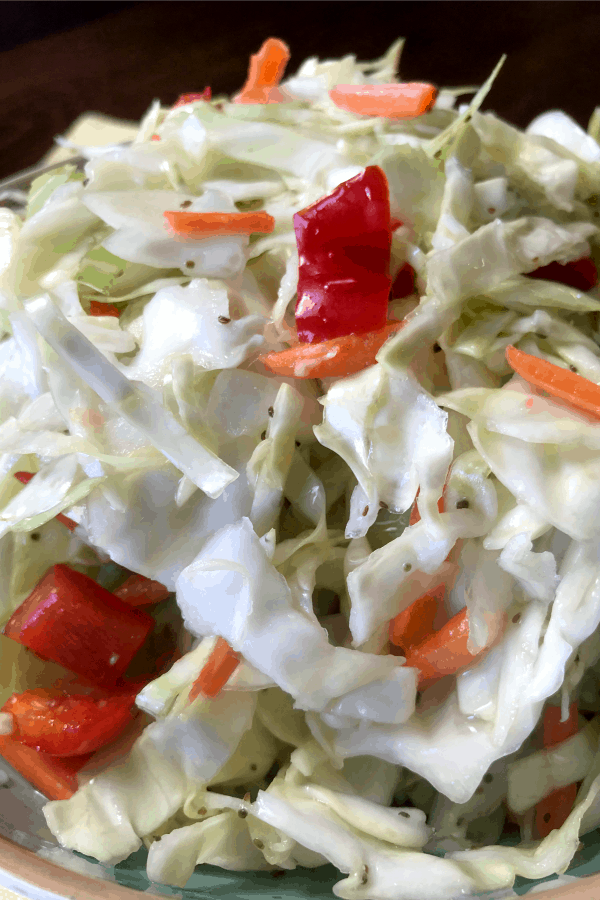easy coleslaw recipe makes a small batch of coleslaw which is a great side dish for many meals