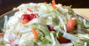 easy vegetable side dish idea is classic coleslaw