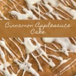 Do you ever crave a deliciously moist cake that is unique, but has simple ingredients? This Cinnamon Applesauce Cake is the perfect easy cake recipe!