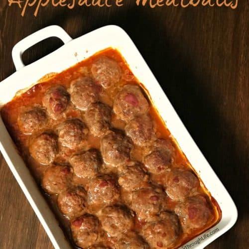 9 x 13 pan of applesauce meatballs