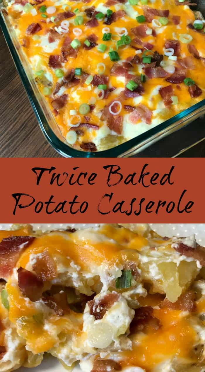Twice Baked Potato Casserole Pin