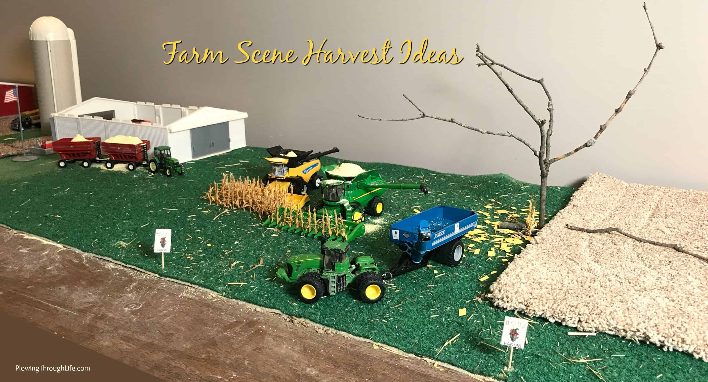 toy farm scene harvest ideas
