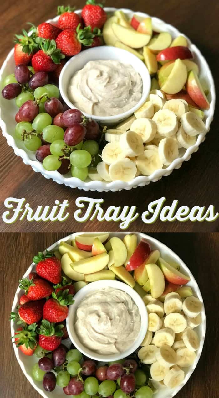 Collage of ideas for How to Make a Fruit Tray
