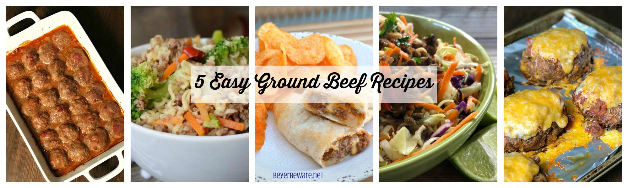 5 Easy Ground Beef Recipes