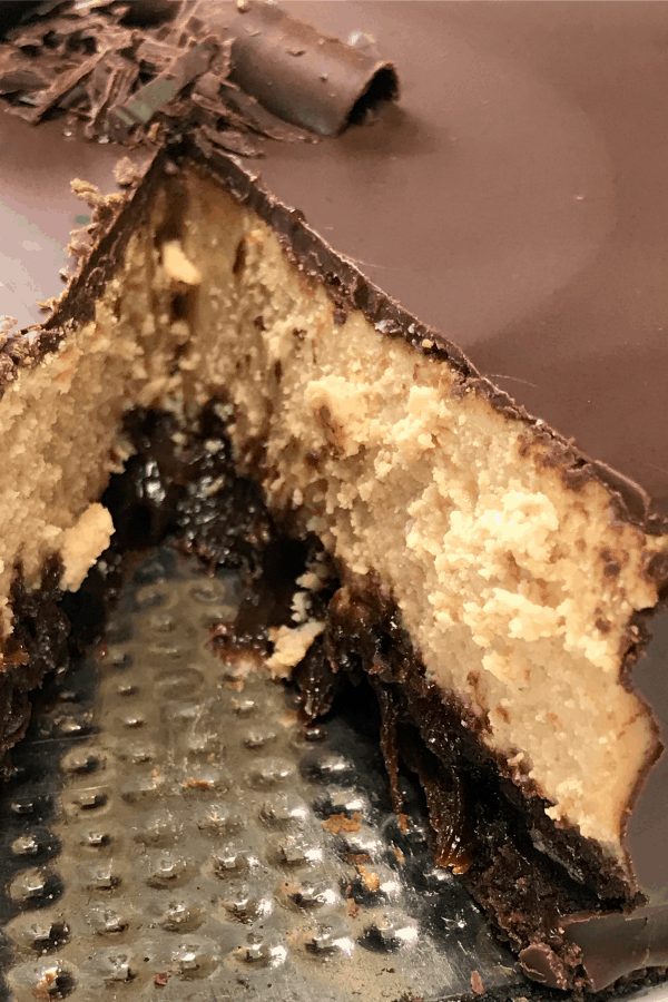Slice out of rich Buckeye Cheesecake