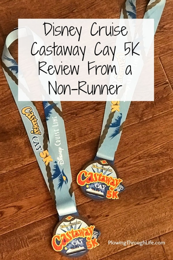 Castaway Cay 5K medals and review from a non-runner