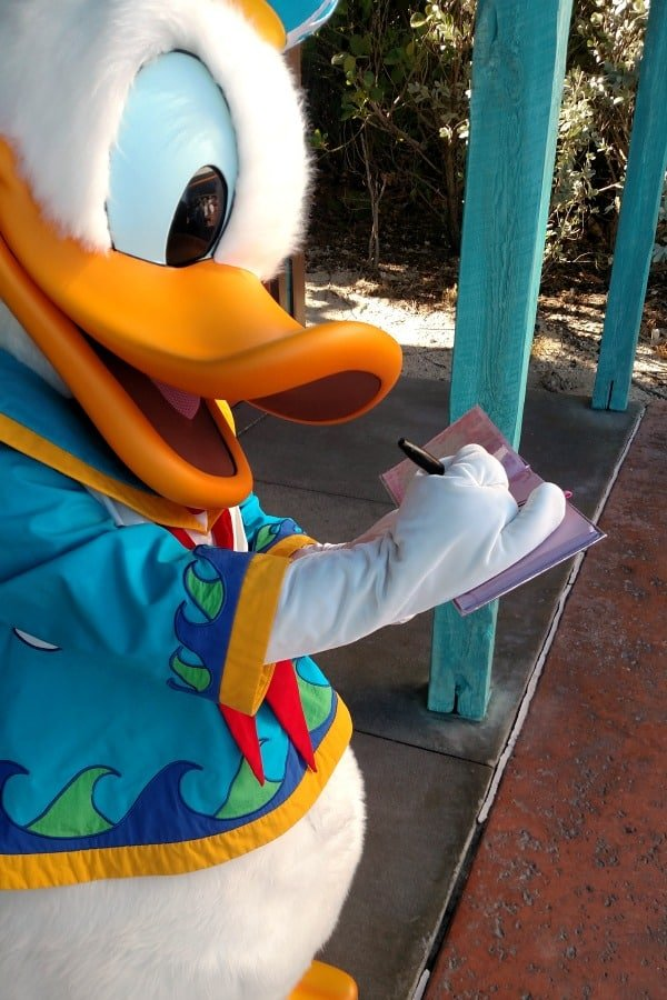 Character meeting at Disney Cruise Castaway Cay Post Office