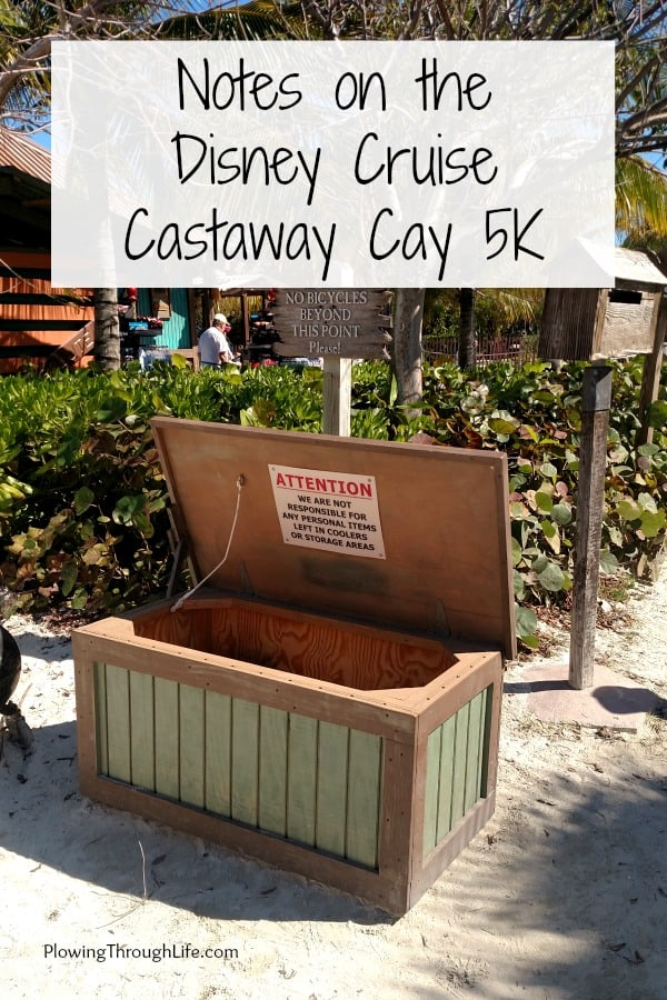 Treasure chest at start line of Castaway Cay 5K