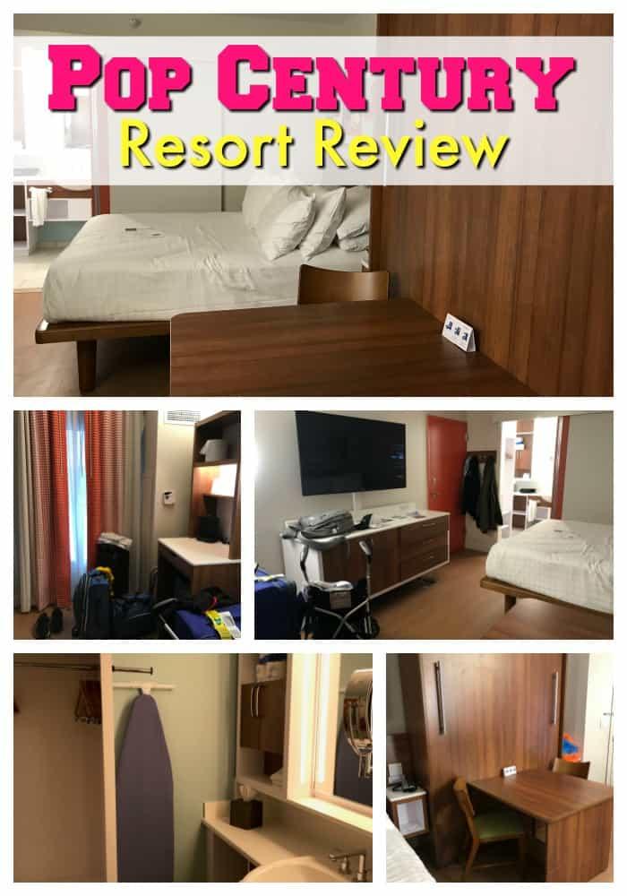 Collage of rooms at Pop Century resort at Walt Disney World
