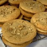 Close up stacks of Butterscotch Refrigerator Cookies