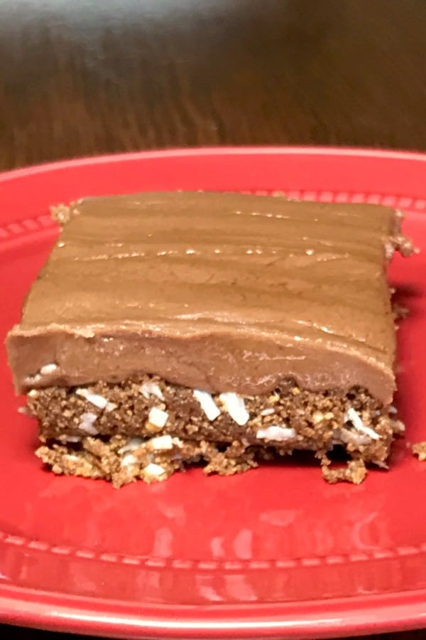 Old fashioned chocolate fudge layer meltaway cookies with coconut