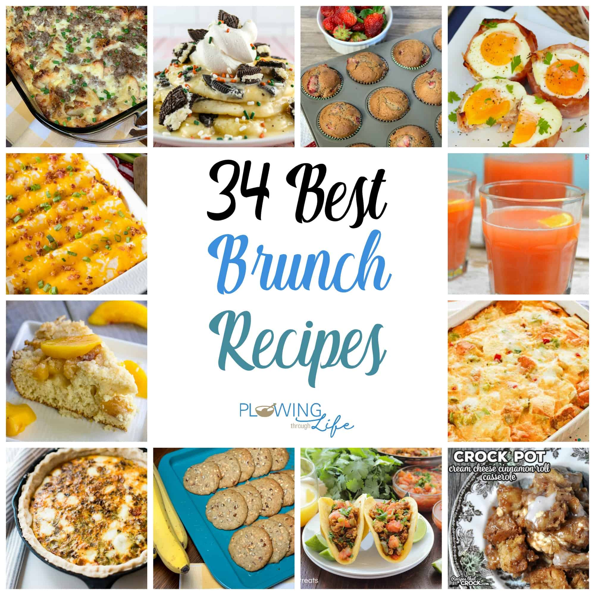 Collage of delicious brunch ideas