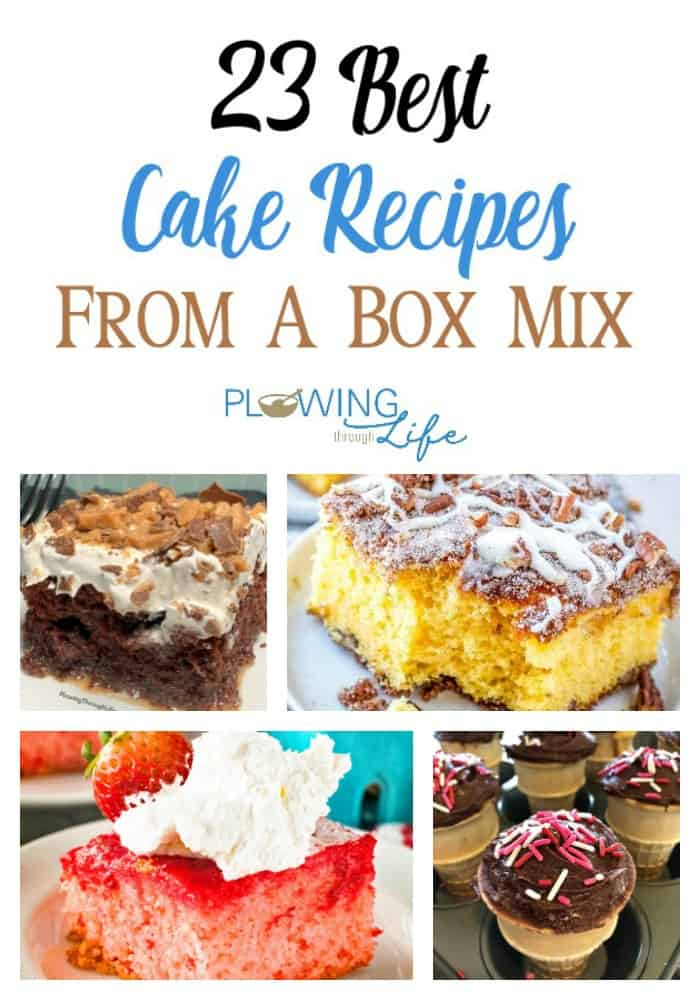 From crock pot cakes, to bakery quality cakes, to cakes with fruit this is a great collection of the best cake from a box mix recipes on the internet!