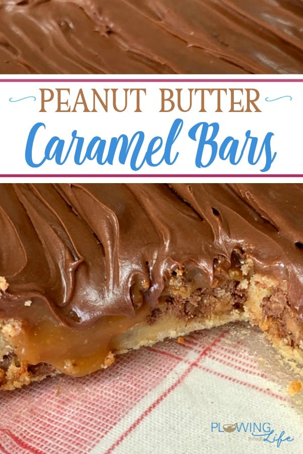 Are you looking for an easy potluck dessert that everyone will love? These Peanut Butter Caramel Bars have sweet peanut butter cups added to the cake mix with a layer of caramel and crunchy peanuts topped with rich chocolate icing tastes like a Snickers Bar on top. We can not stop eating these!
