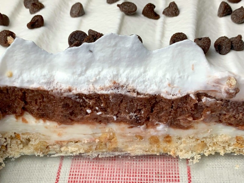 Four Layer Pudding and cool whip Dessert Chocolate Delight