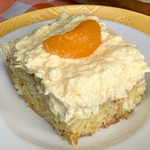 Orange Cake with Pineapple Icing