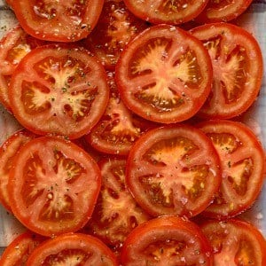 Sliced Lightly Marinated Tomatoes