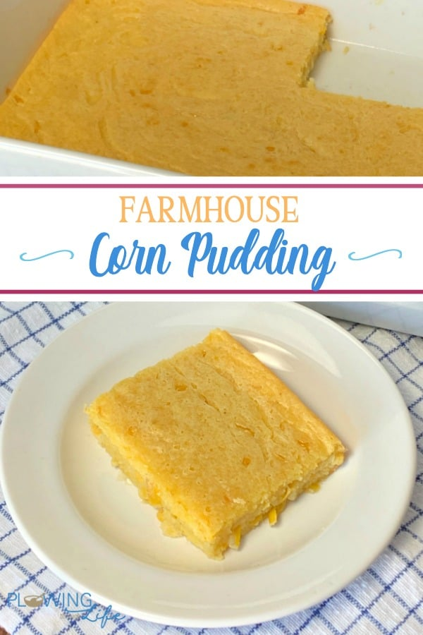 Farmhouse Corn Pudding is a staple at most church carry-ins, big family meals or potlucks