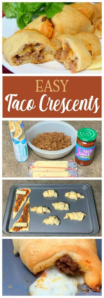 step by step pictures to make taco crescents