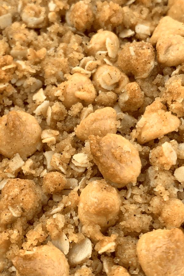 peanut butter crumble for apple crisp