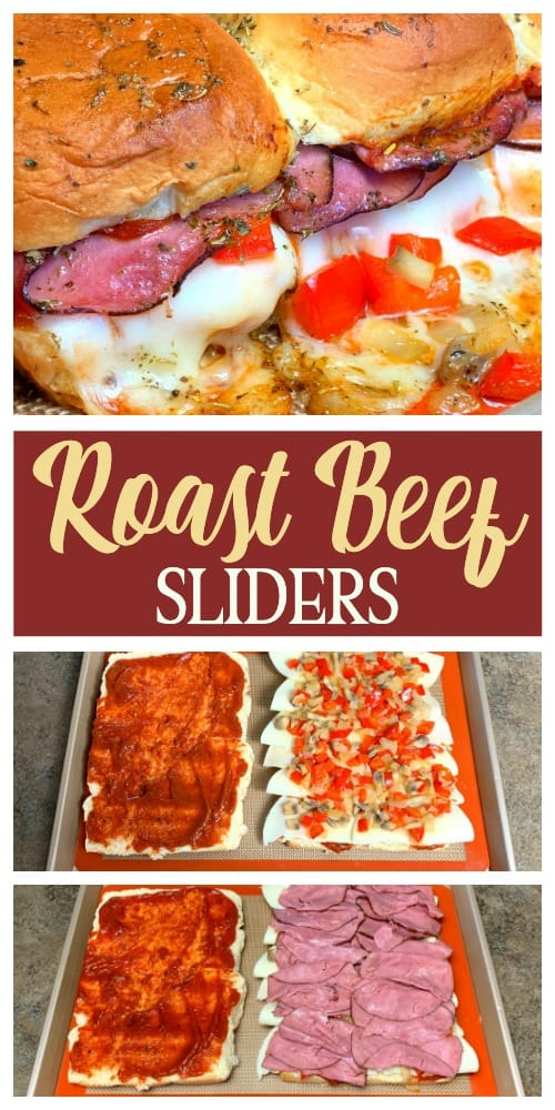 pictures of steps to make roast beef sliders