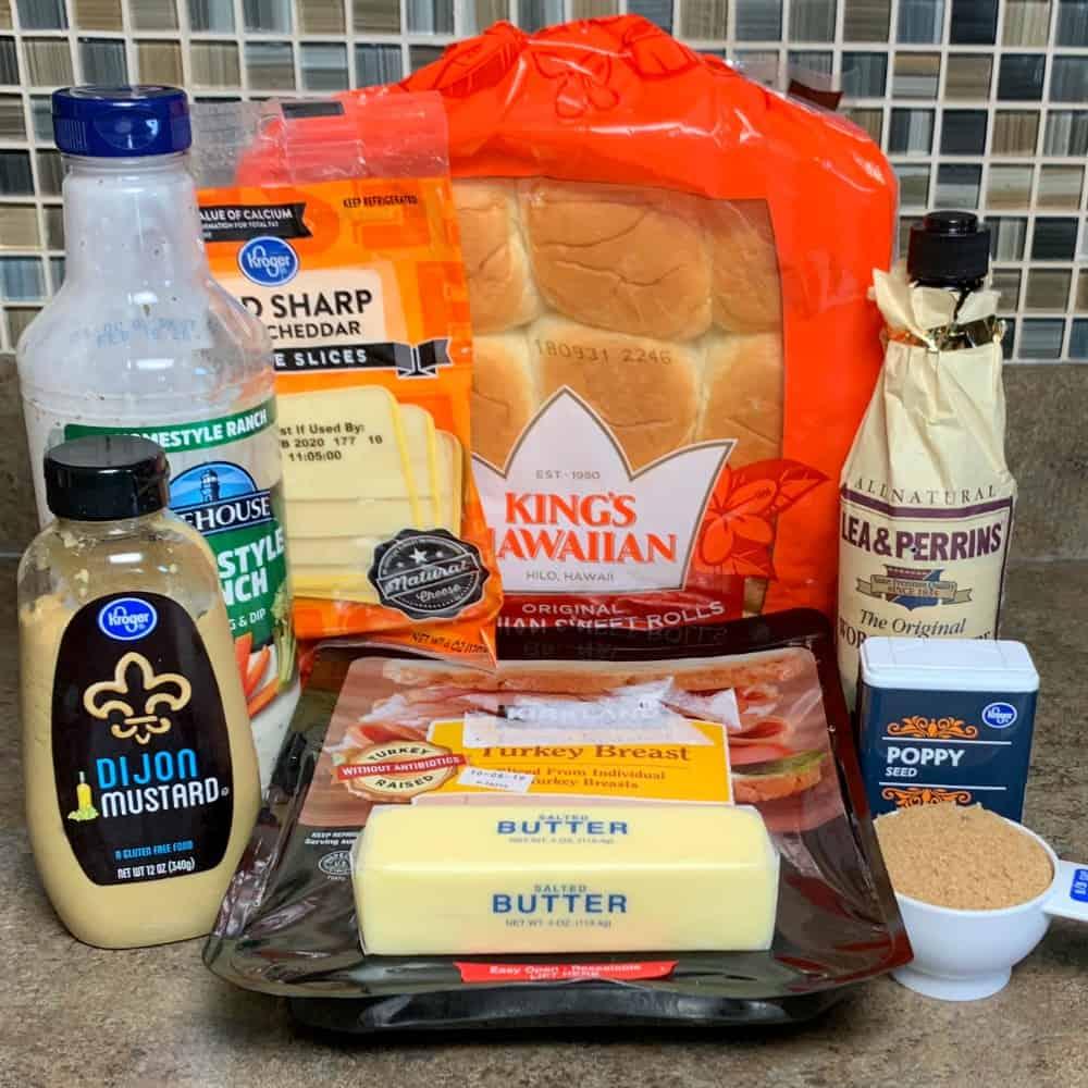 9 ingredients needed to make hawaiian roll turkey sliders