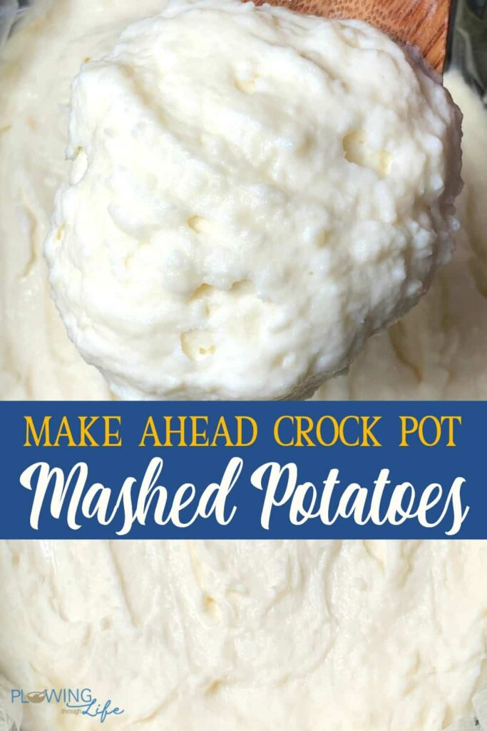 collage of make ahead mashed potatoes