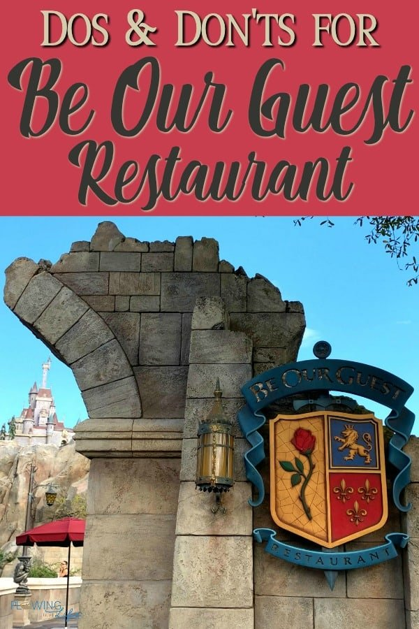 Dos and Don'ts with tips for Be Our Guest Restaurant collage