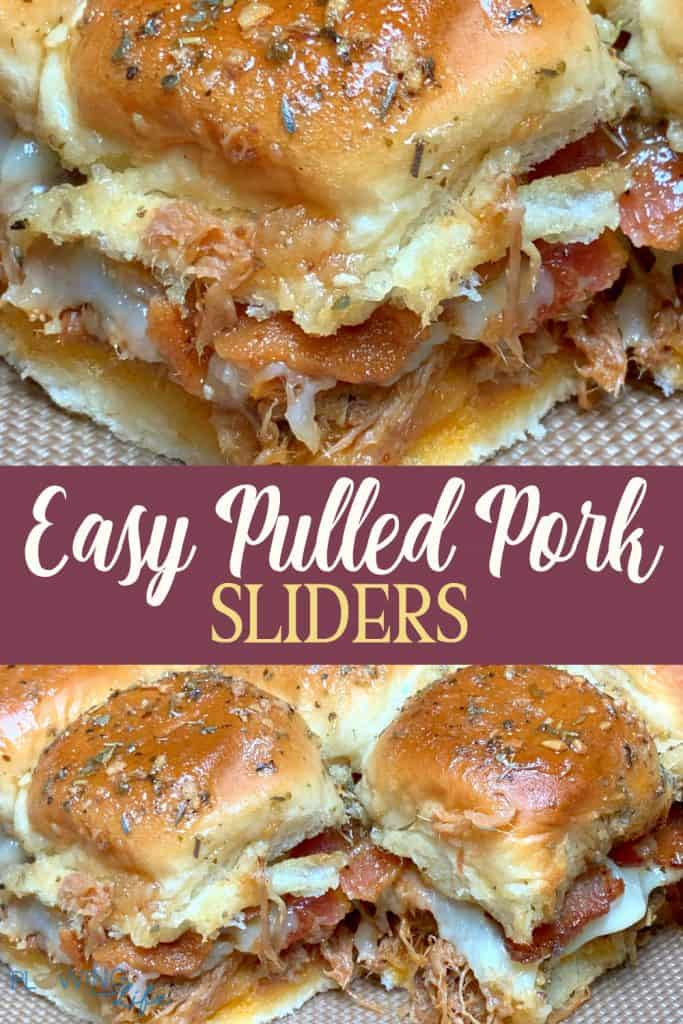 Collage of easy barbecue pulled pork sliders