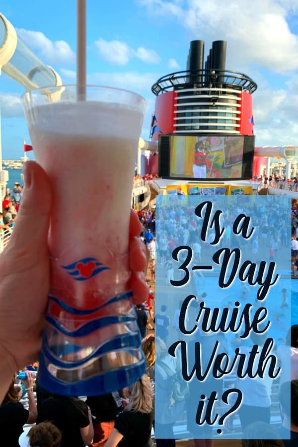 Drink and Funnel Vision on Disney Dream during sail away deck party
