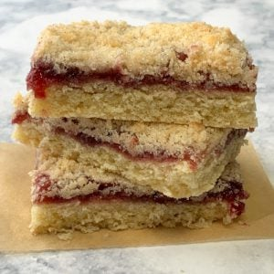 Stack of 3 raspberry pastries