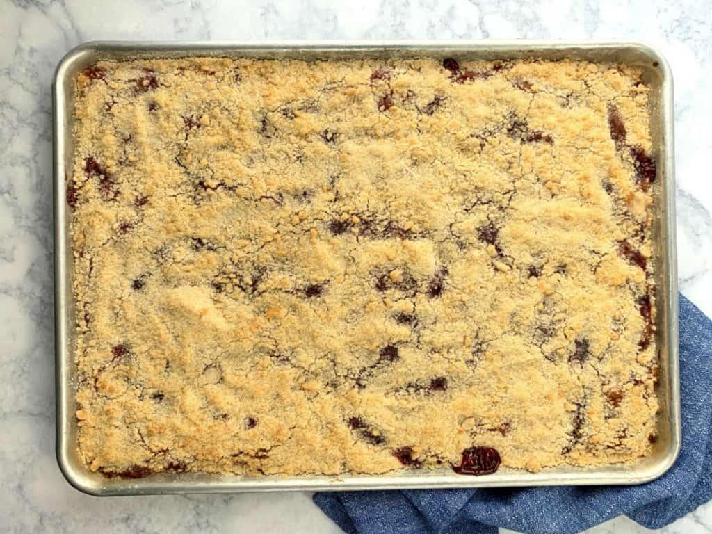 11 x 17 pan of German crumb cake bars