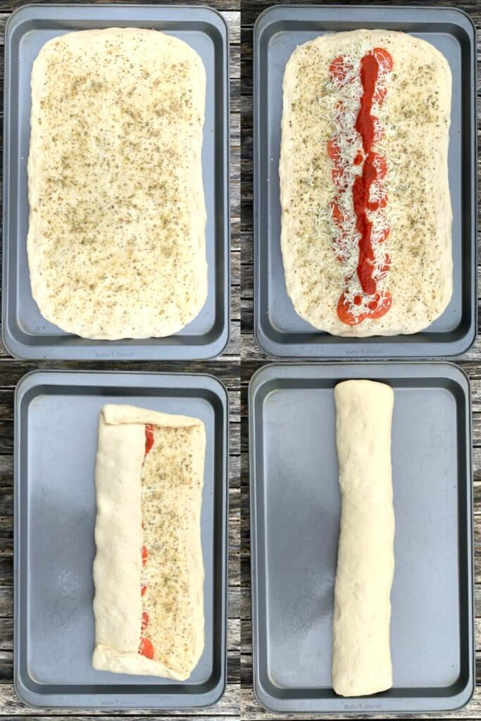 How to roll up stromboli in 4 steps