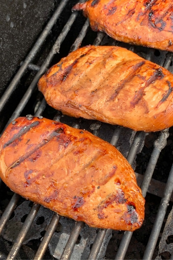 Citrus and Asian flair marinade on grilled chicken