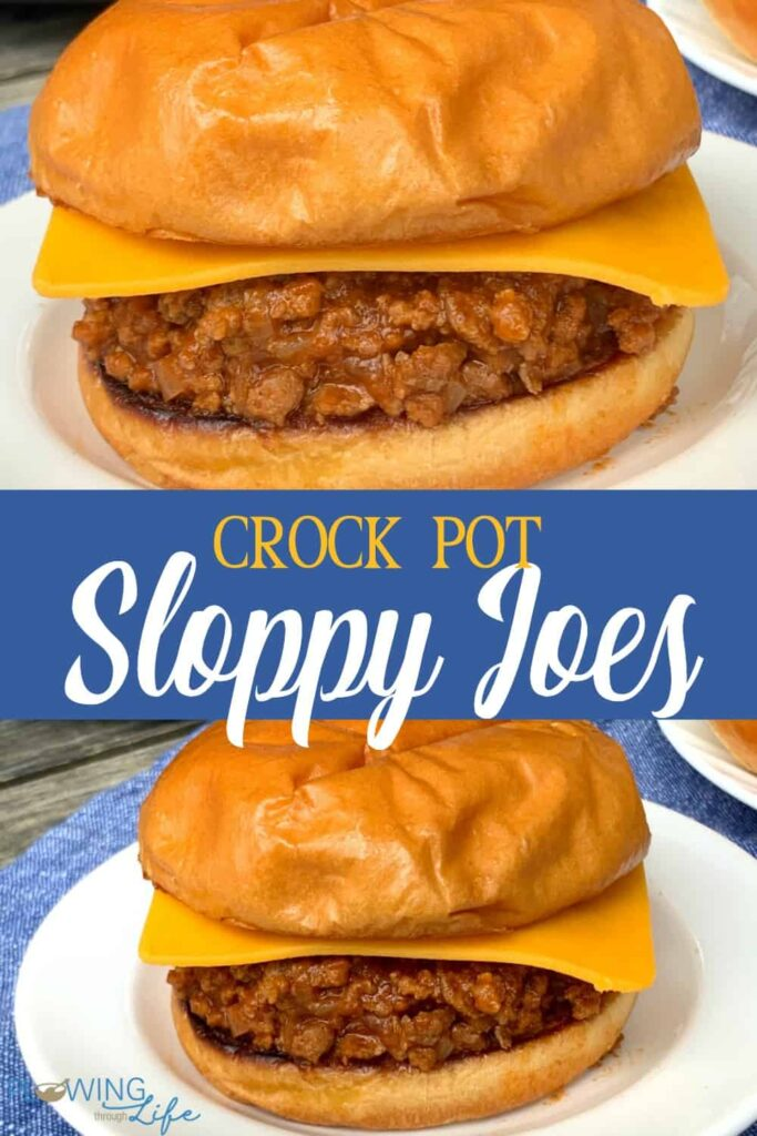 Collage of Sloppy Joes with text