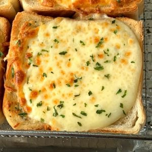 Semi-homemade garlic bread toast with cheese