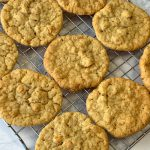 Oatmeal delight cookies on cooling rack