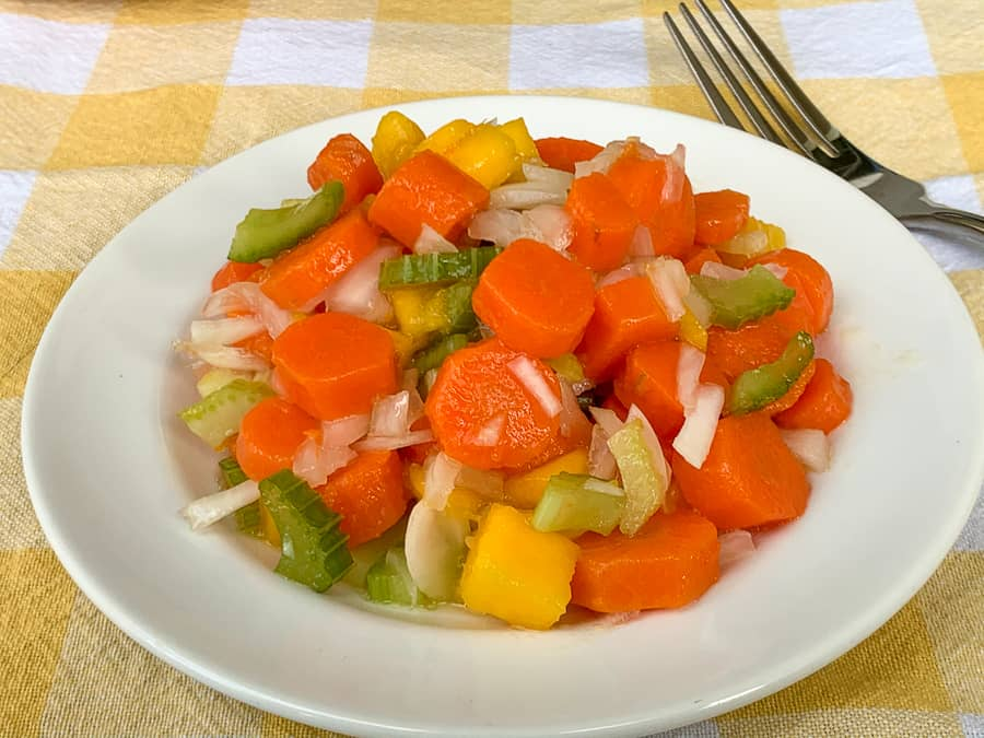 Plate of sweet carrot salad